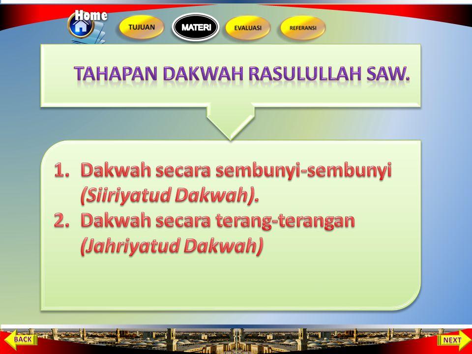 Tahapan Dakwah Rasulullah SAW.