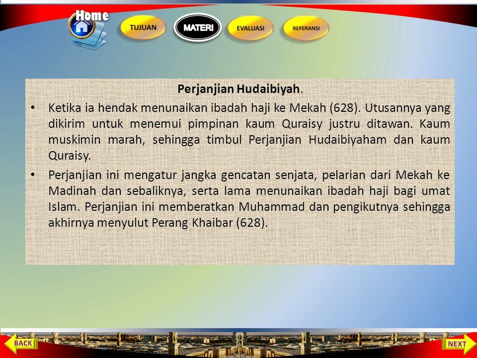 Perjanjian Hudaibiyah.