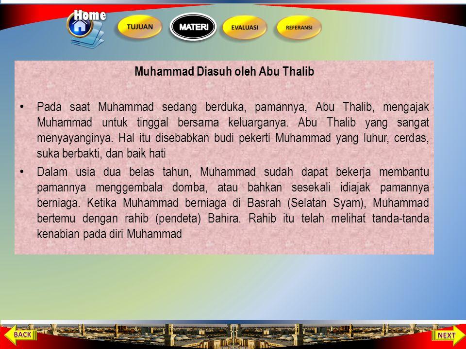 Muhammad Diasuh oleh Abu Thalib