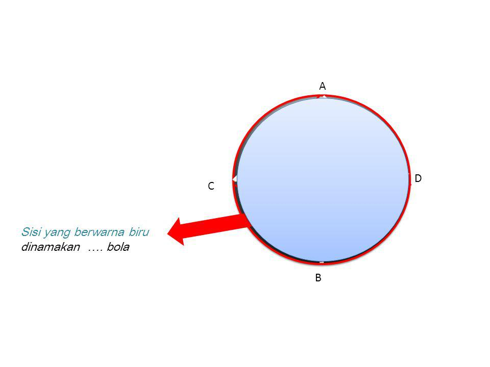 A D C Sisi yang berwarna biru dinamakan …. bola B