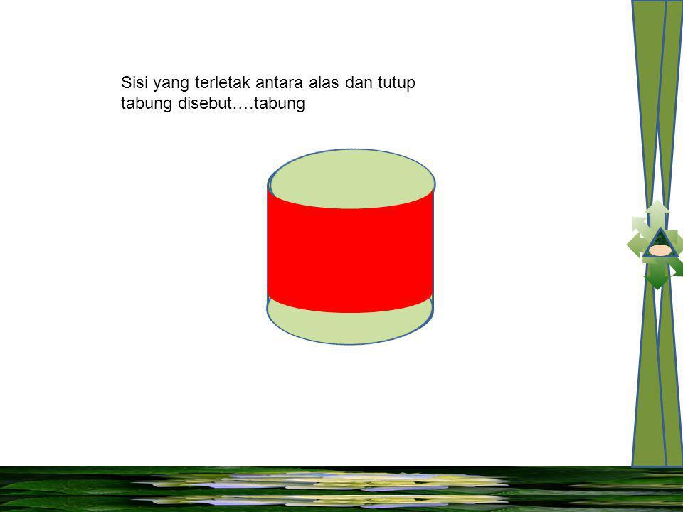 Sisi yang terletak antara alas dan tutup tabung disebut….tabung