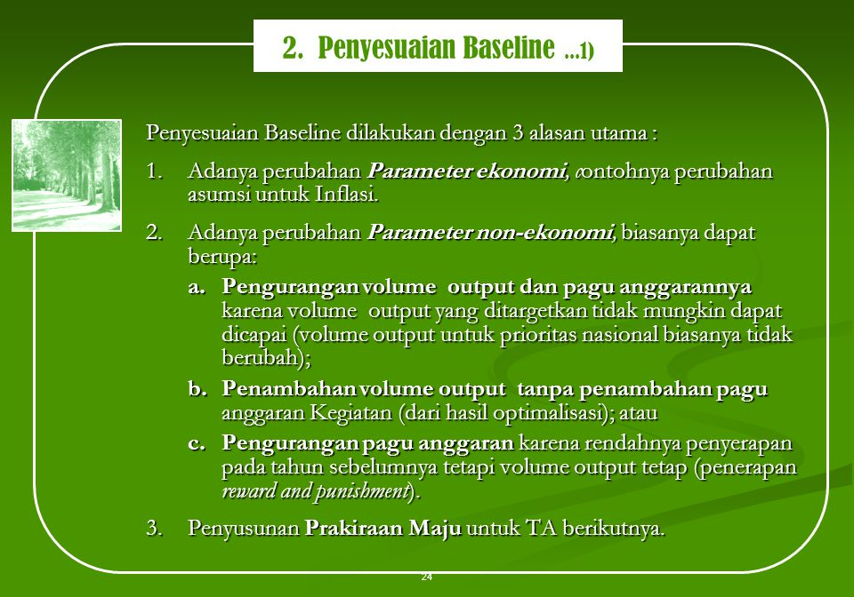 2. Penyesuaian Baseline ...1)