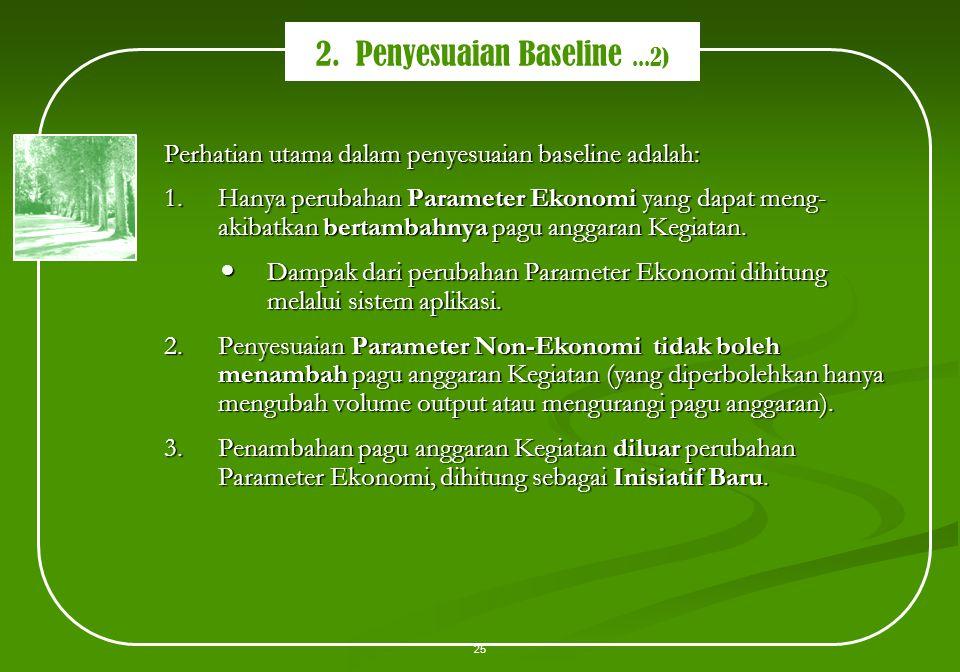 2. Penyesuaian Baseline ...2)