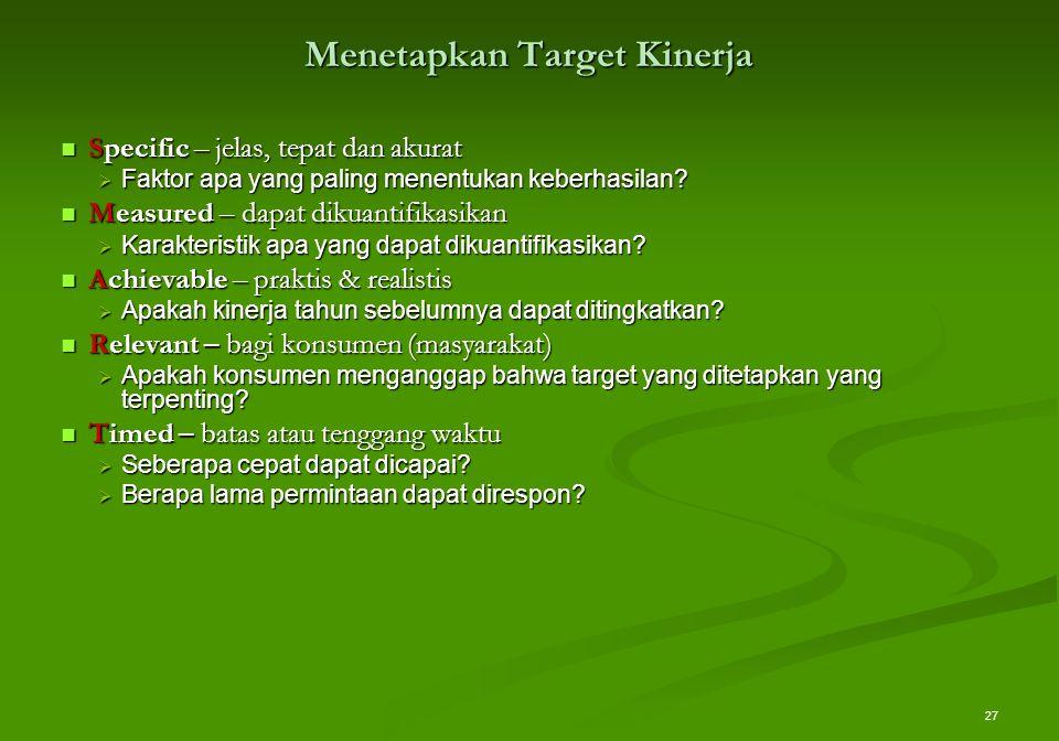Menetapkan Target Kinerja
