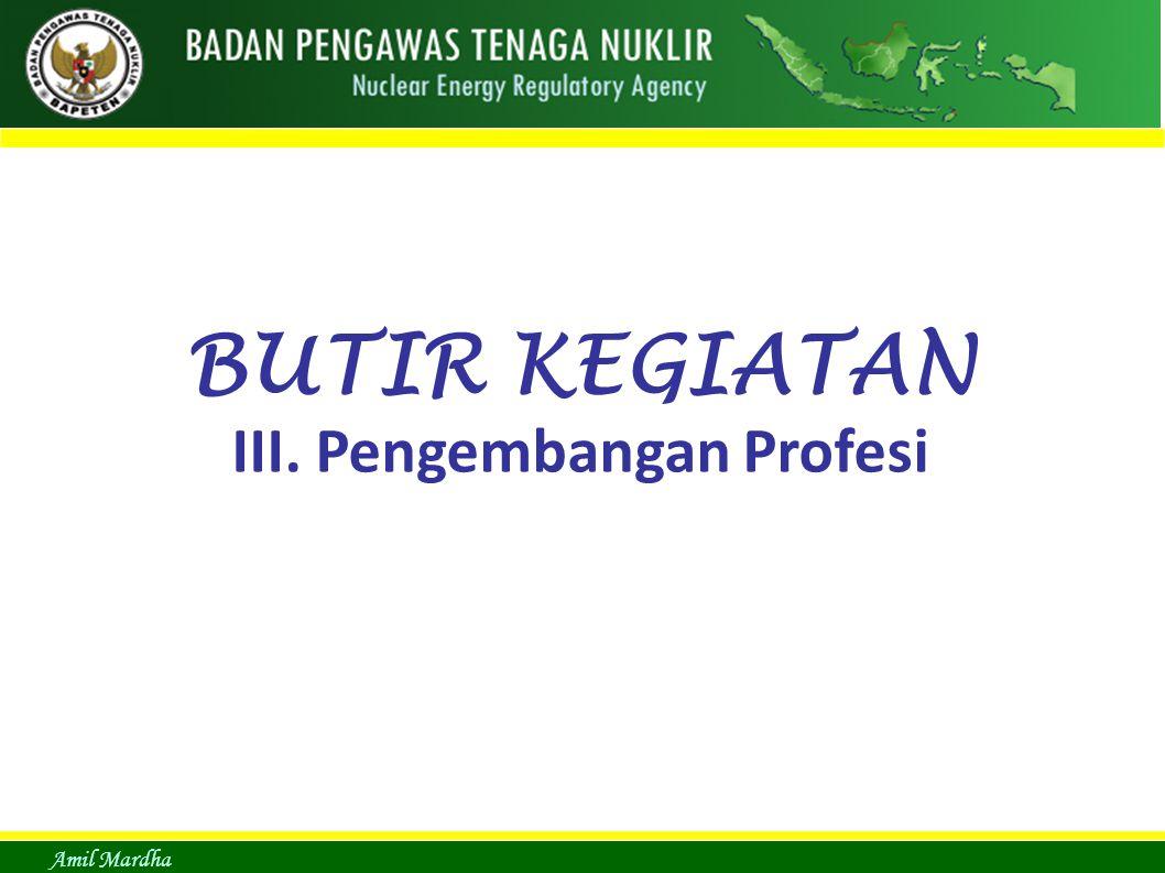 III. Pengembangan Profesi