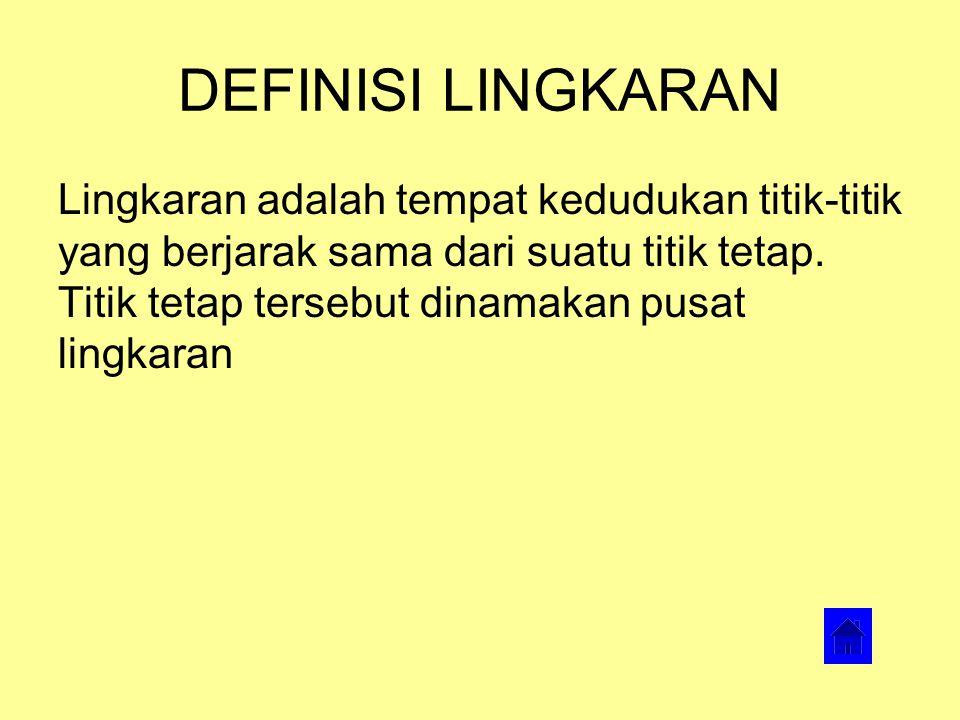DEFINISI LINGKARAN