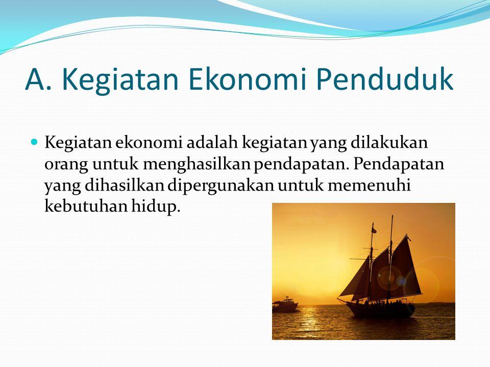 A. Kegiatan Ekonomi Penduduk