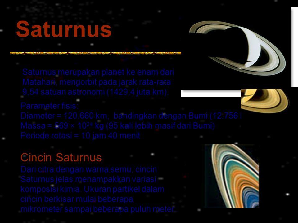 Saturnus Cincin Saturnus Saturnus merupakan planet ke enam dari
