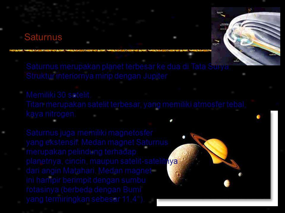 Saturnus Saturnus merupakan planet terbesar ke dua di Tata Surya.