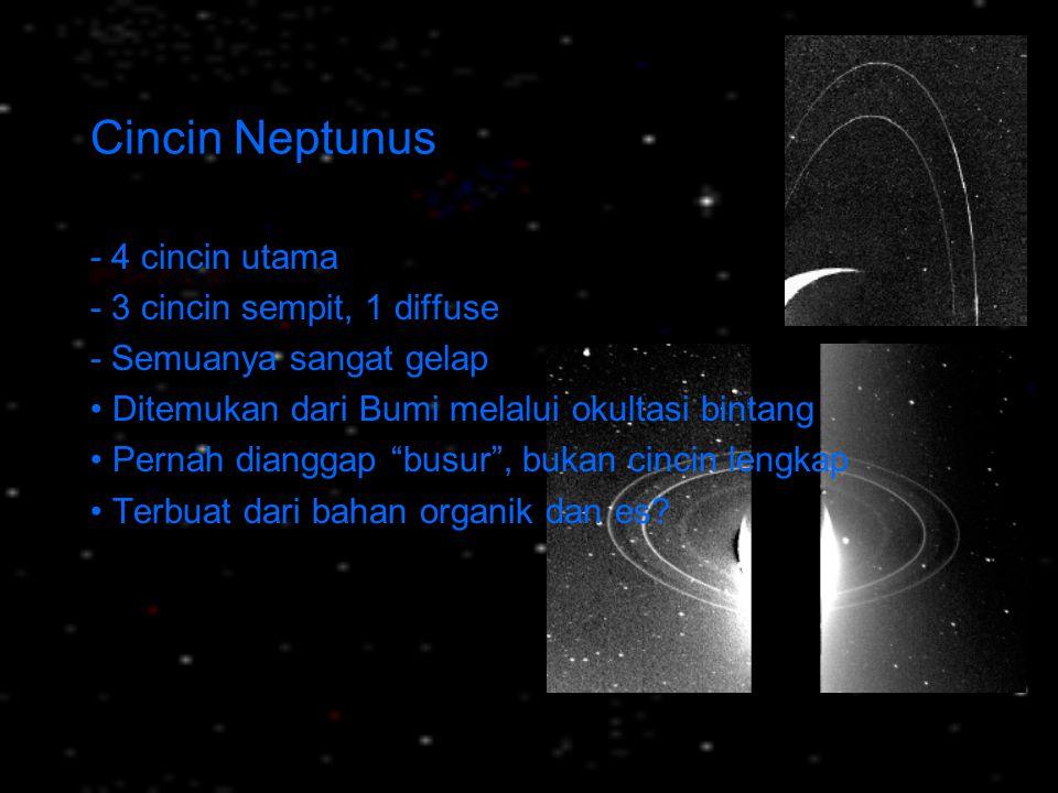 Cincin Neptunus - 4 cincin utama - 3 cincin sempit, 1 diffuse