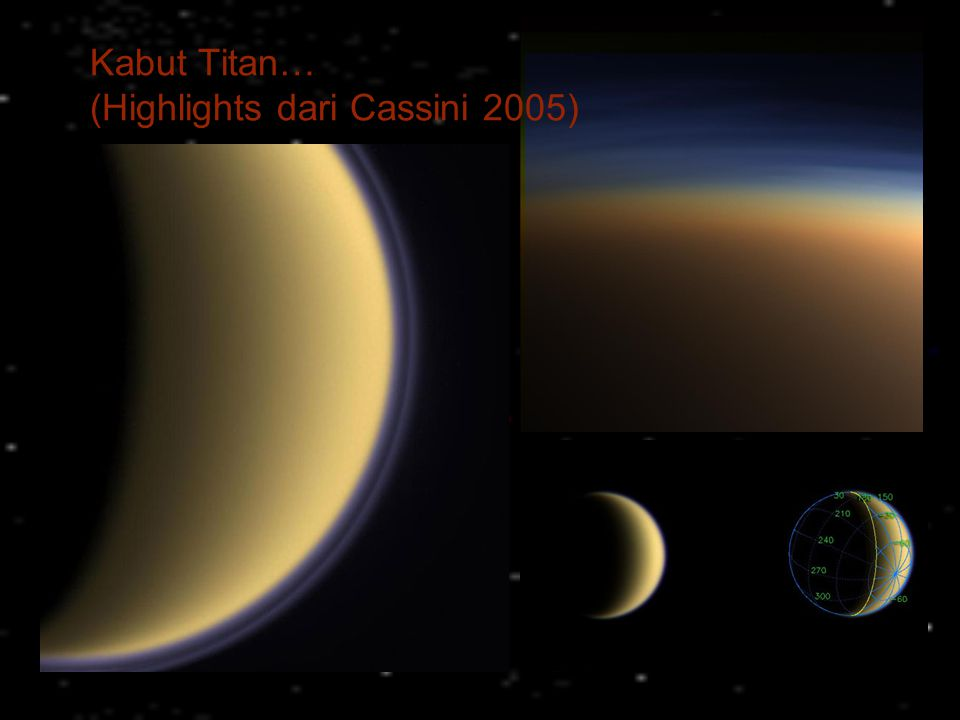 Kabut Titan… (Highlights dari Cassini 2005)