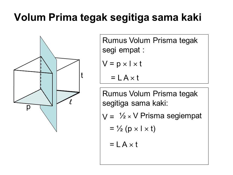 Volum Prima tegak segitiga sama kaki