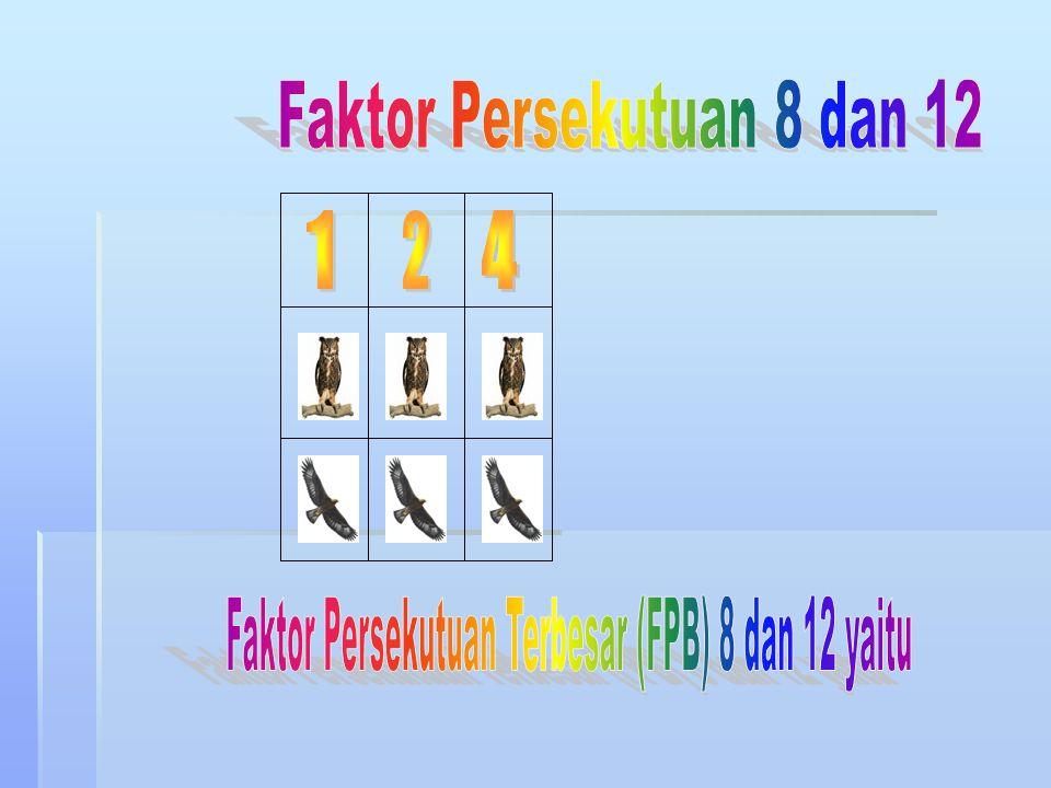 Faktor Persekutuan 8 dan 12