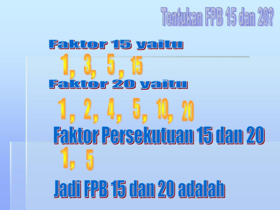 Faktor Persekutuan 15 dan 20