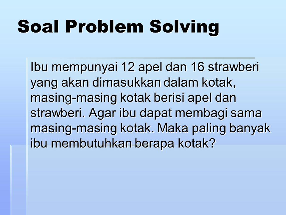 Soal Problem Solving