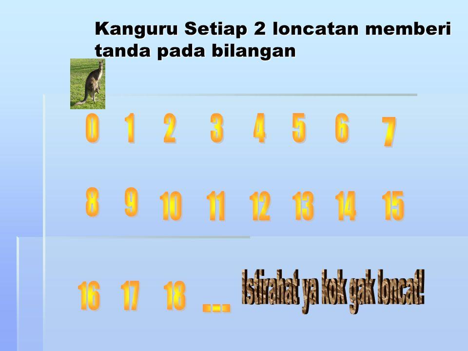 Kanguru Setiap 2 loncatan memberi tanda pada bilangan