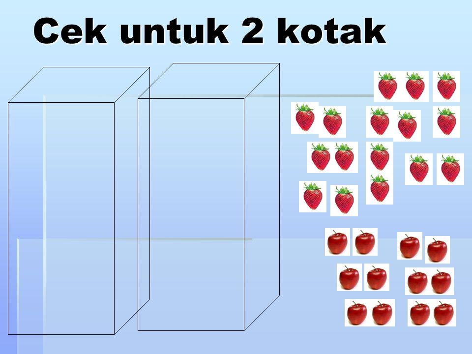 Cek untuk 2 kotak