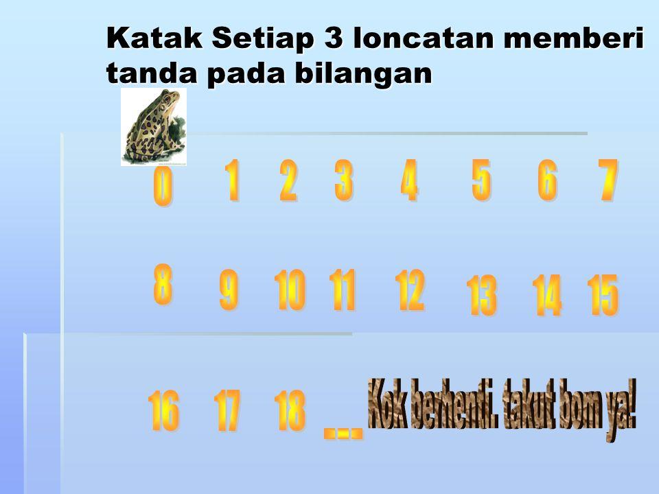 Katak Setiap 3 loncatan memberi tanda pada bilangan