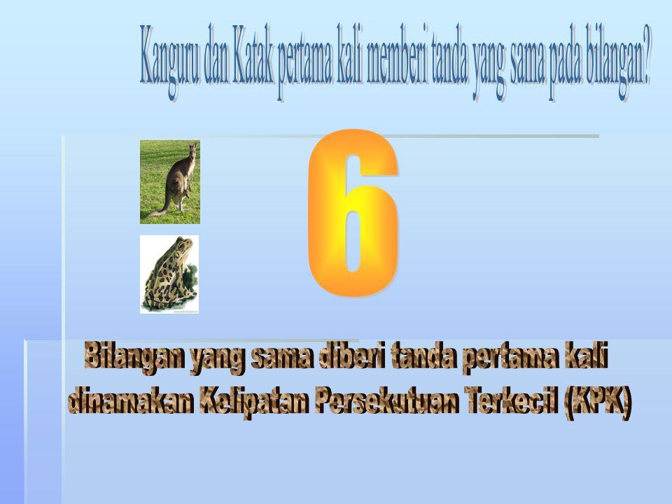 Kanguru dan Katak pertama kali memberi tanda yang sama pada bilangan