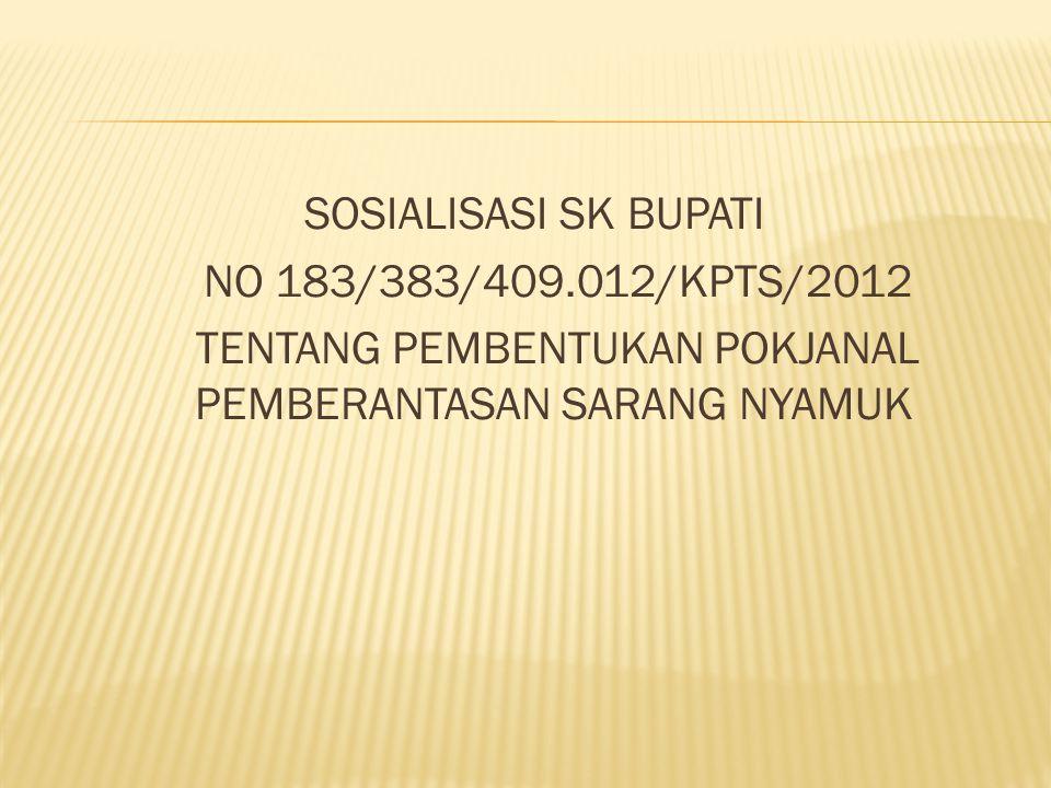 SOSIALISASI SK BUPATI NO 183/383/409
