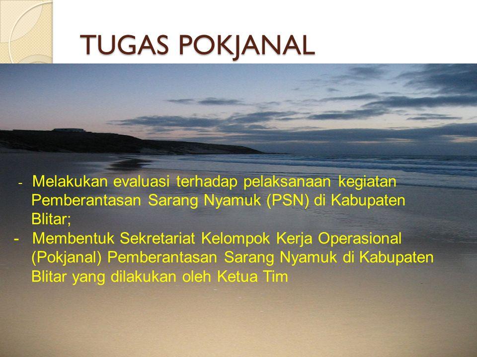 TUGAS POKJANAL Pemberantasan Sarang Nyamuk (PSN) di Kabupaten Blitar;