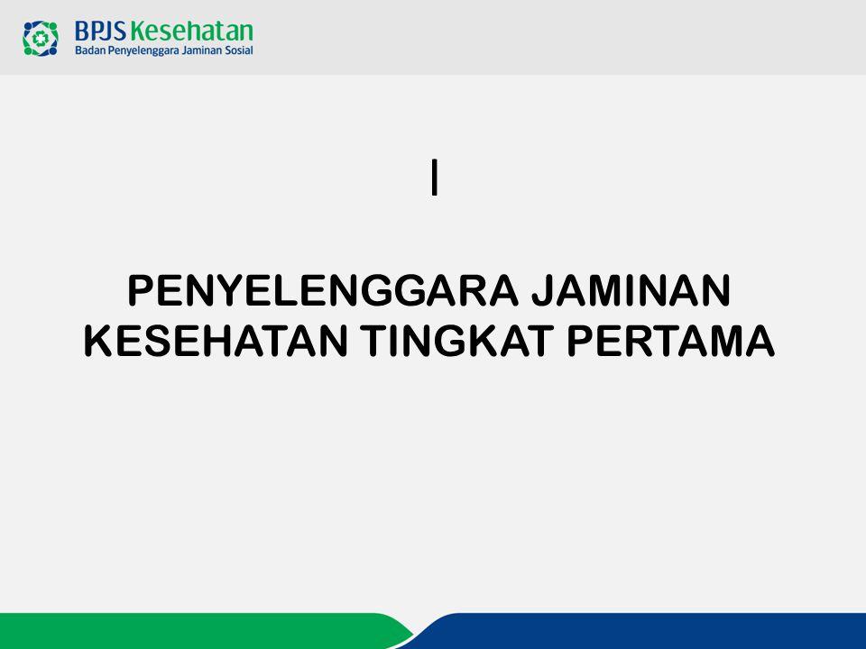 PENYELENGGARA JAMINAN KESEHATAN TINGKAT PERTAMA
