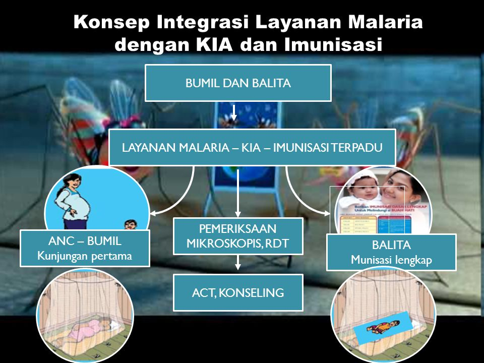 Konsep Integrasi Layanan Malaria dengan KIA dan Imunisasi