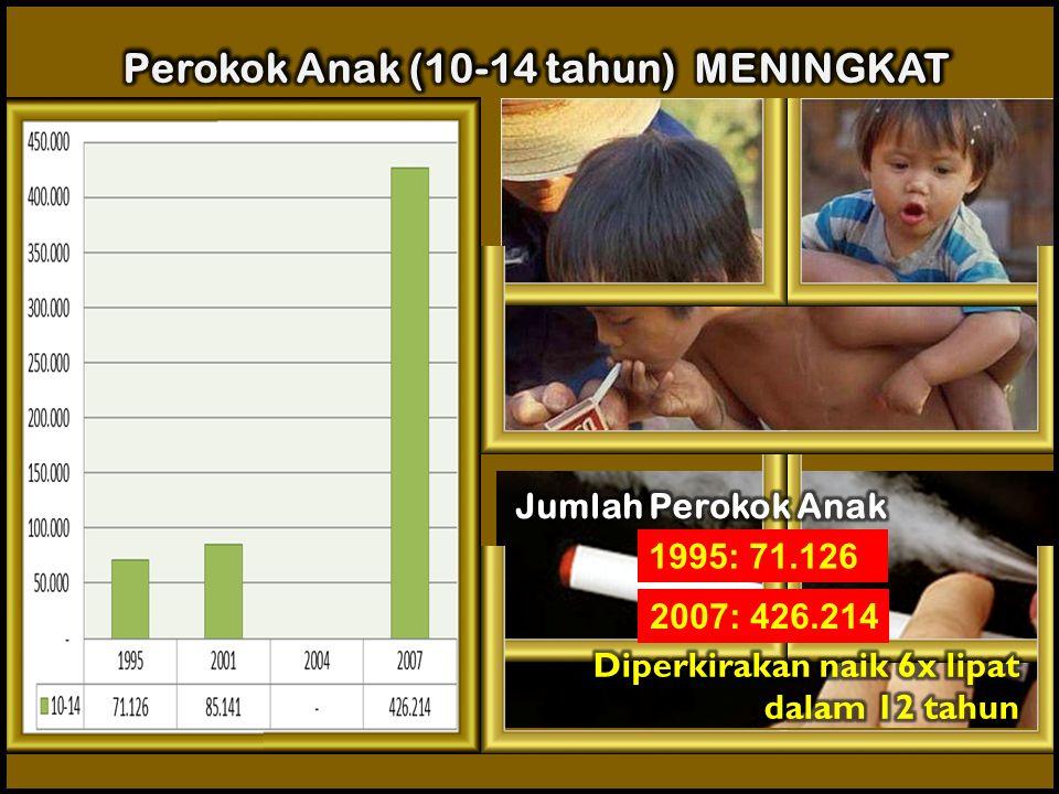 Perokok Anak (10-14 tahun) MENINGKAT