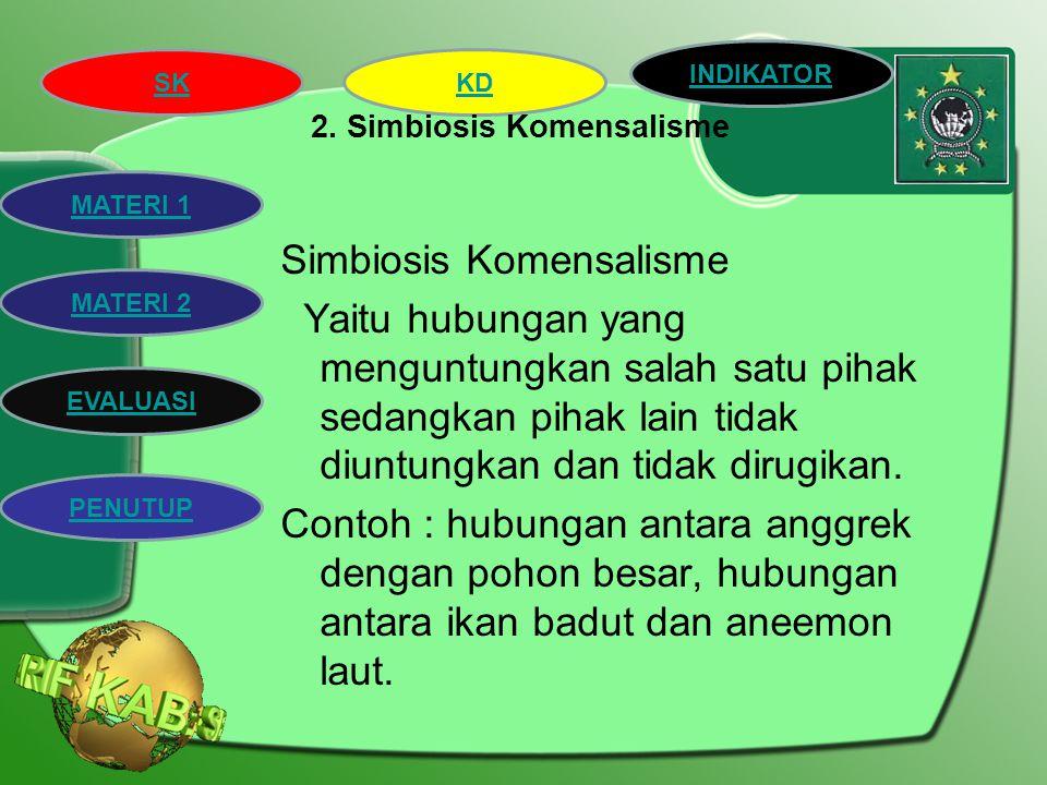 2. Simbiosis Komensalisme