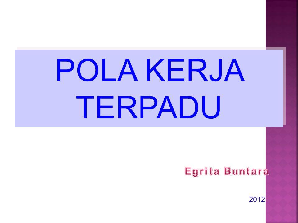 POLA KERJA TERPADU Egrita Buntara 2012