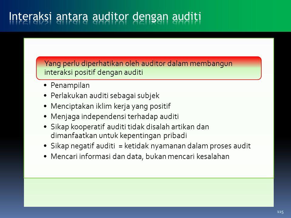 Interaksi antara auditor dengan auditi