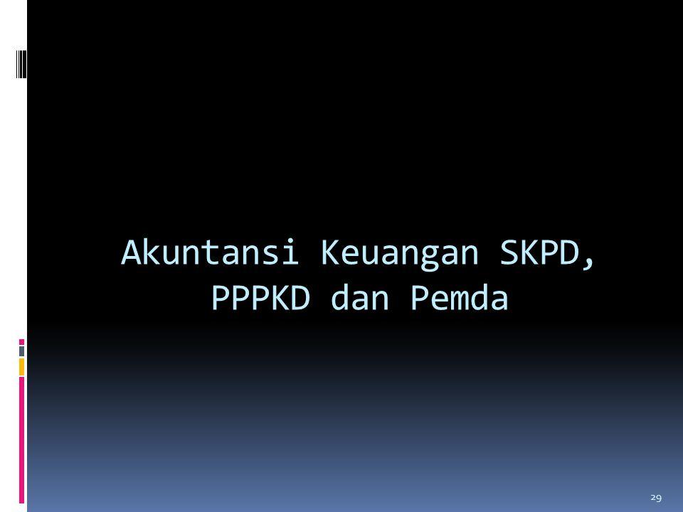Akuntansi Keuangan SKPD, PPPKD dan Pemda