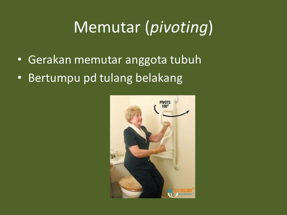 Memutar (pivoting) Gerakan memutar anggota tubuh