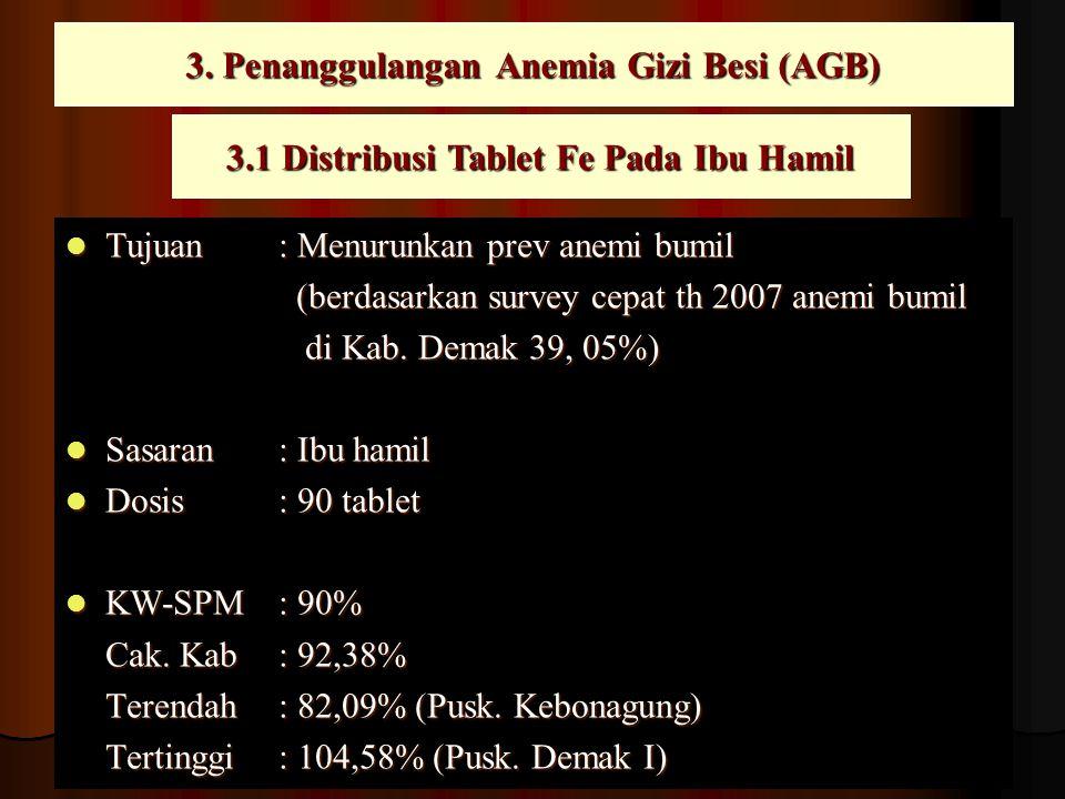 3. Penanggulangan Anemia Gizi Besi (AGB)