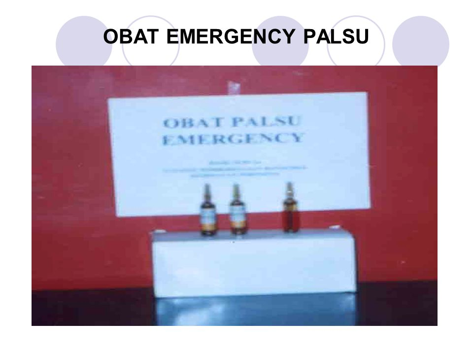 OBAT EMERGENCY PALSU