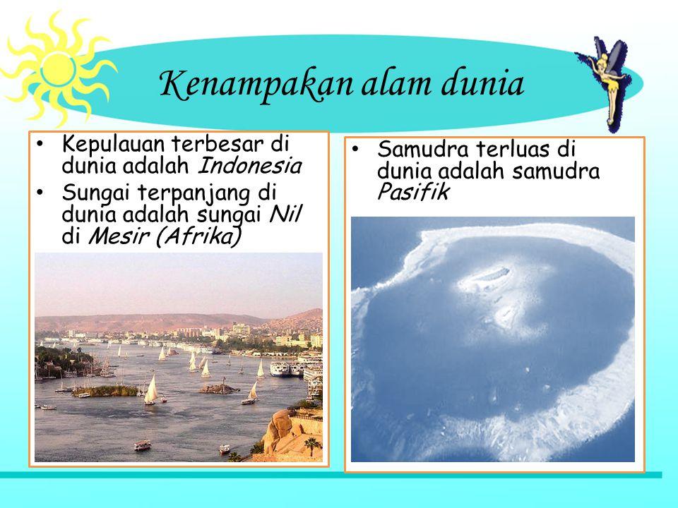 Kenampakan alam dunia Kepulauan terbesar di dunia adalah Indonesia
