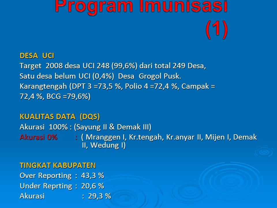 Program Imunisasi (1) DESA UCI