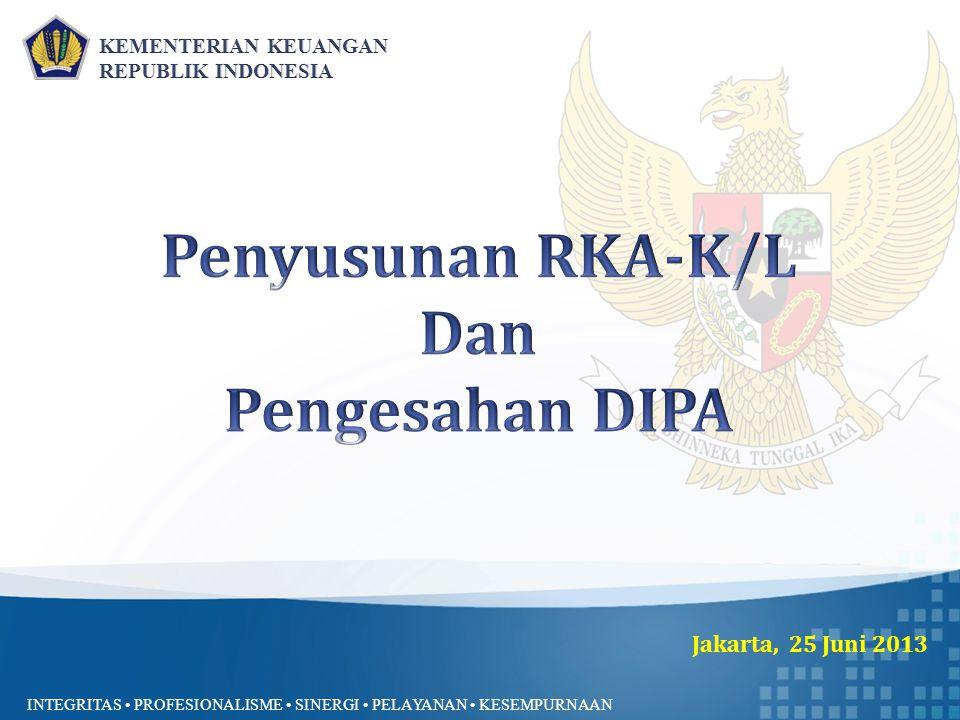 Penyusunan RKA-K/L Dan Pengesahan DIPA