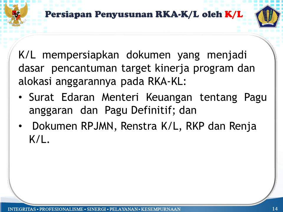 Persiapan Penyusunan RKA-K/L oleh K/L