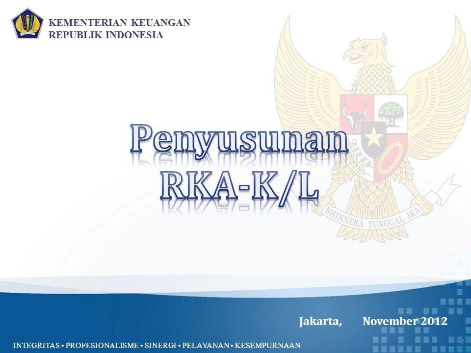Penyusunan RKA-K/L Jakarta, November 2012