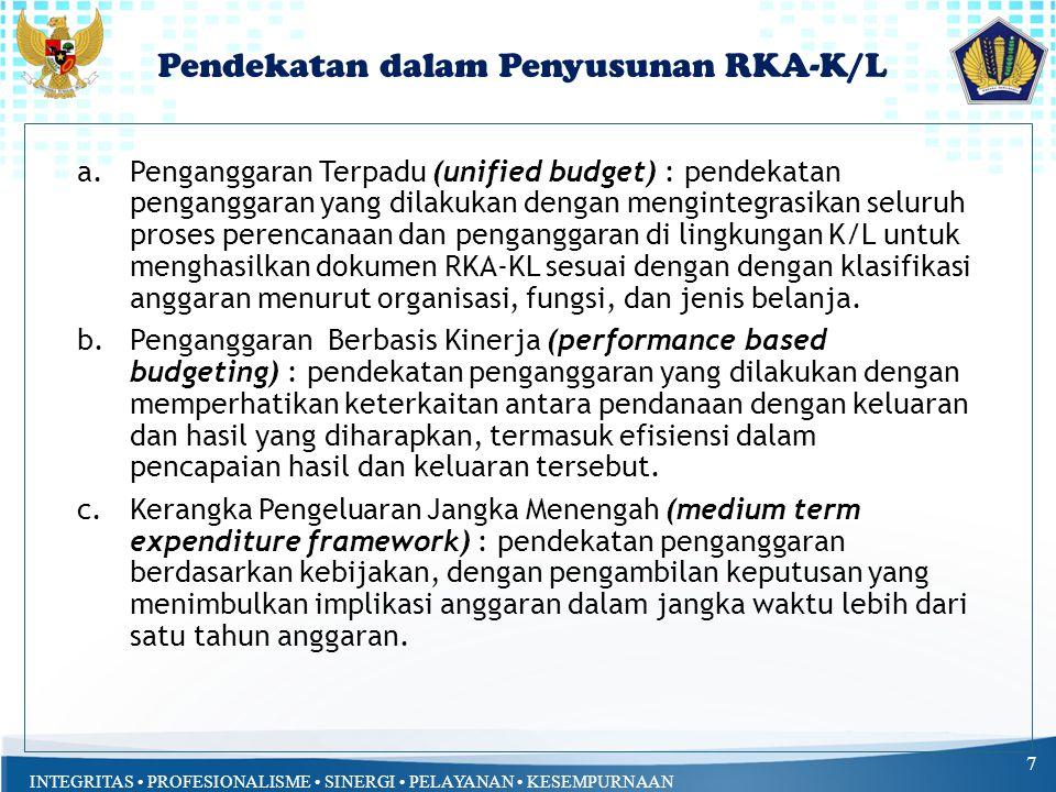 Pendekatan dalam Penyusunan RKA-K/L