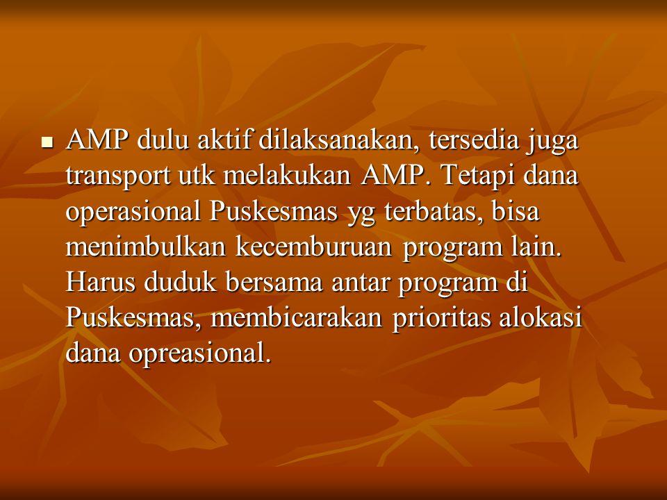 AMP dulu aktif dilaksanakan, tersedia juga transport utk melakukan AMP