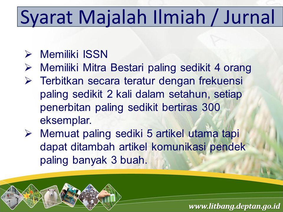 Syarat Majalah Ilmiah / Jurnal