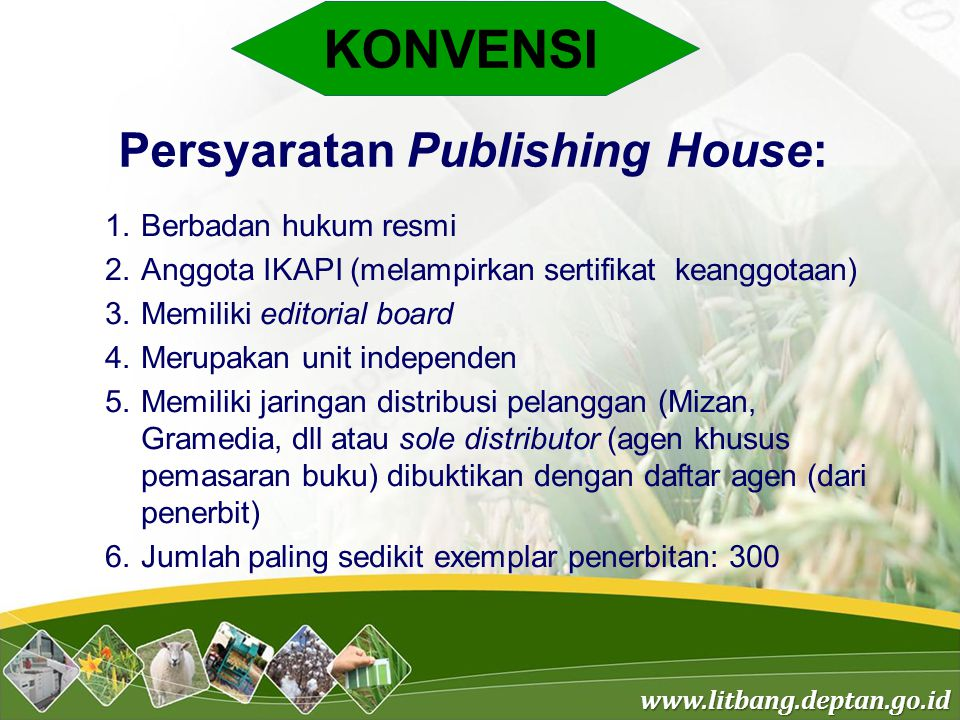 Persyaratan Publishing House: