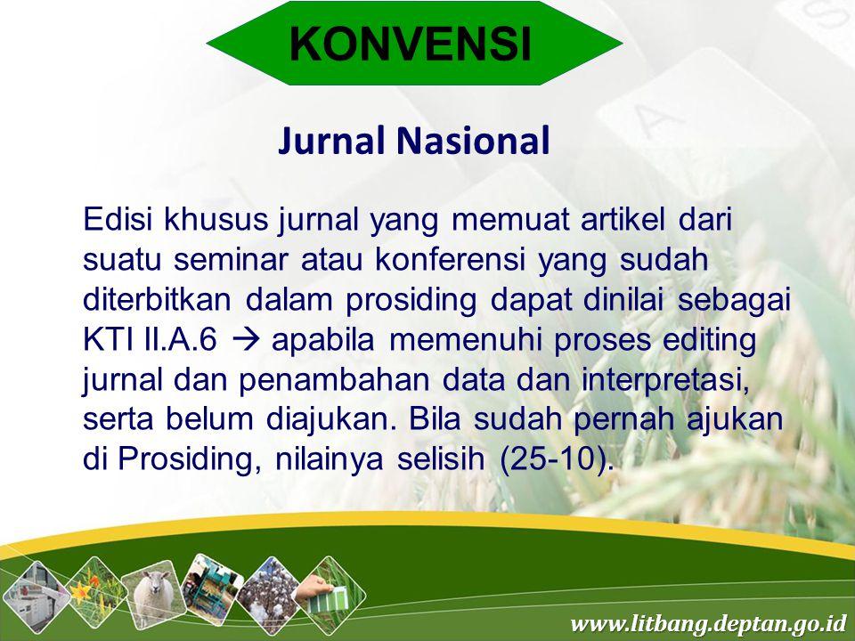 KONVENSI Jurnal Nasional