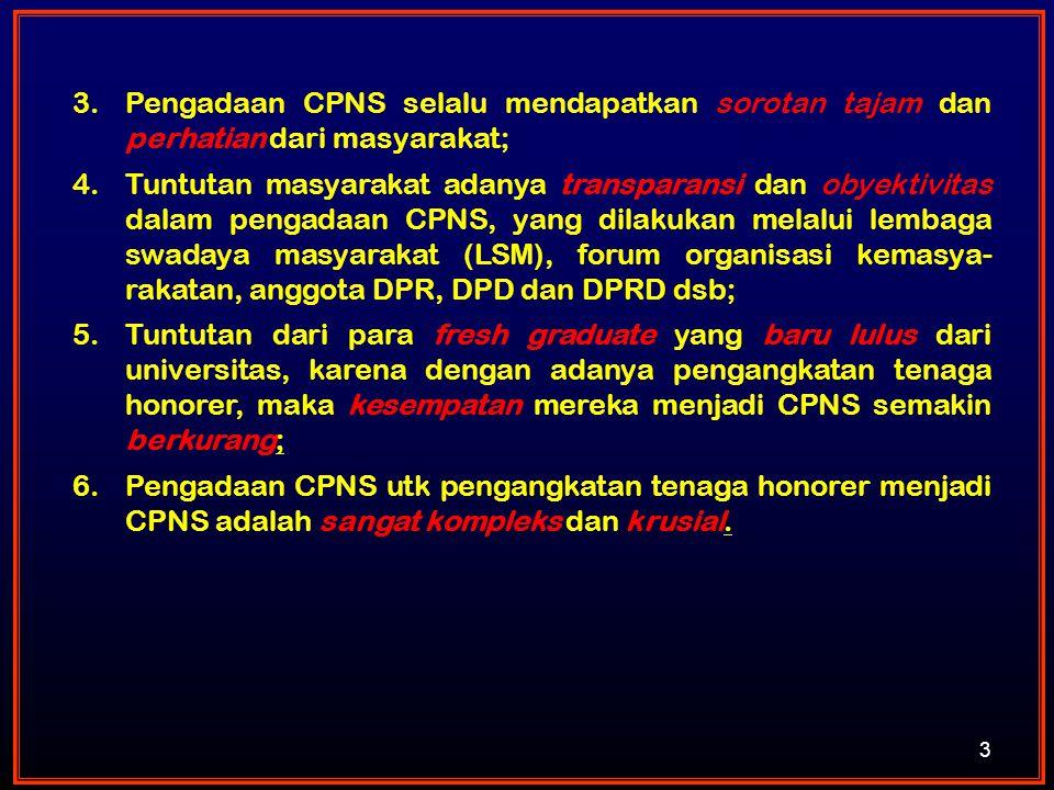 Pengadaan CPNS selalu mendapatkan sorotan tajam dan perhatian dari masyarakat;