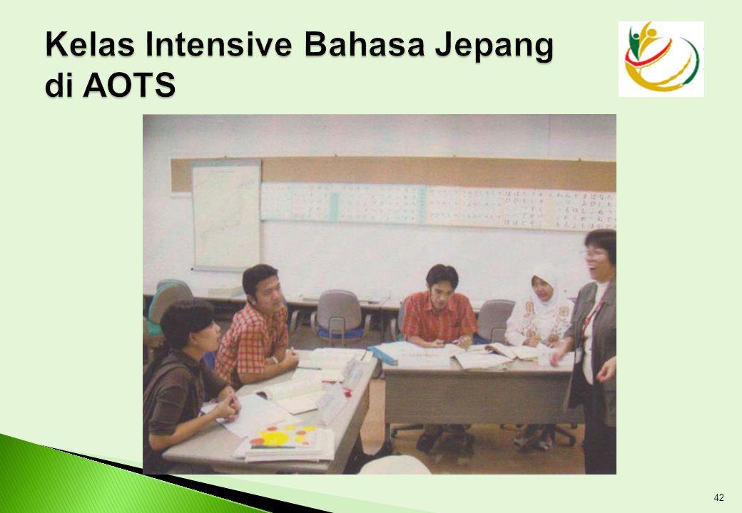 Kelas Intensive Bahasa Jepang di AOTS
