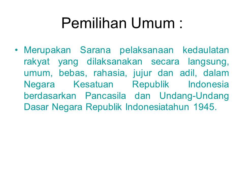 Pemilihan Umum :