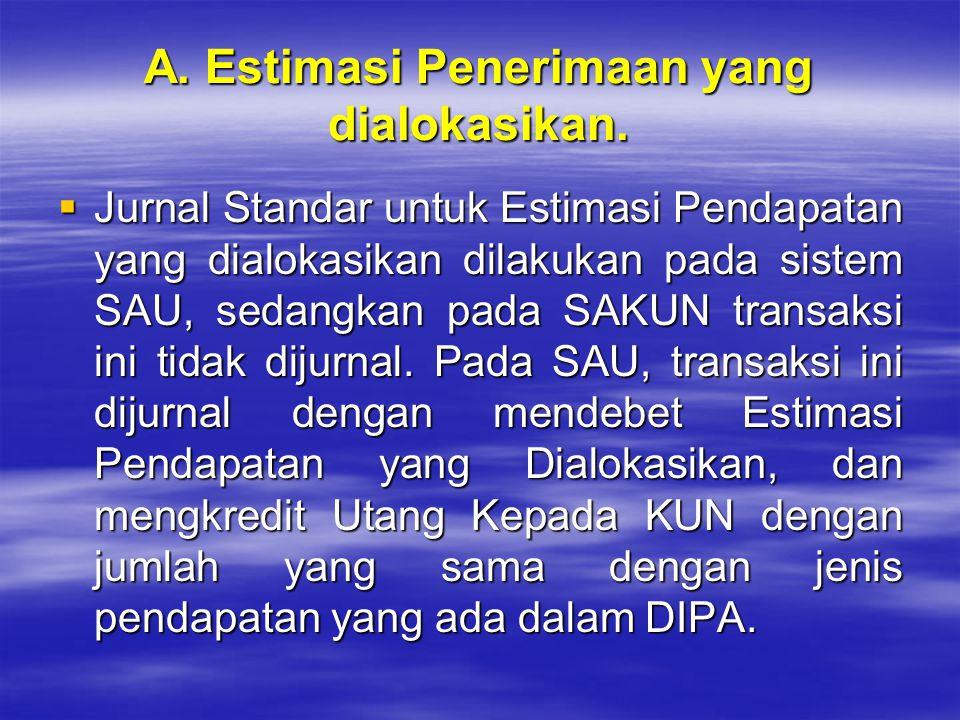 A. Estimasi Penerimaan yang dialokasikan.