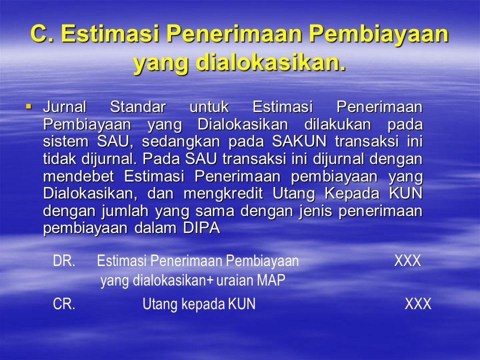 C. Estimasi Penerimaan Pembiayaan yang dialokasikan.